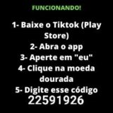 TIKTOK SURPRESA use o cód